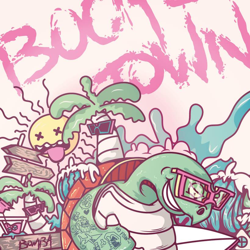 Mi Proyecto del curso: Ilustración para no ilustradores : Bocas Town 3