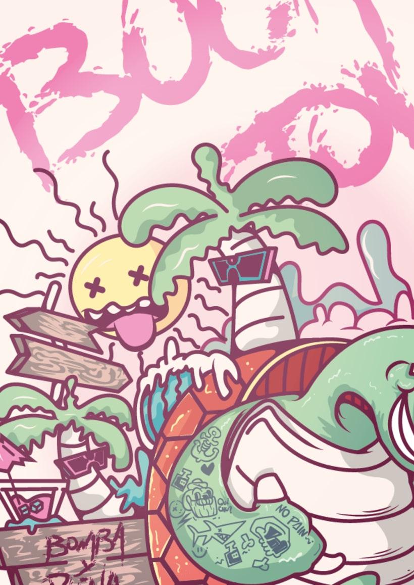 Mi Proyecto del curso: Ilustración para no ilustradores : Bocas Town 4