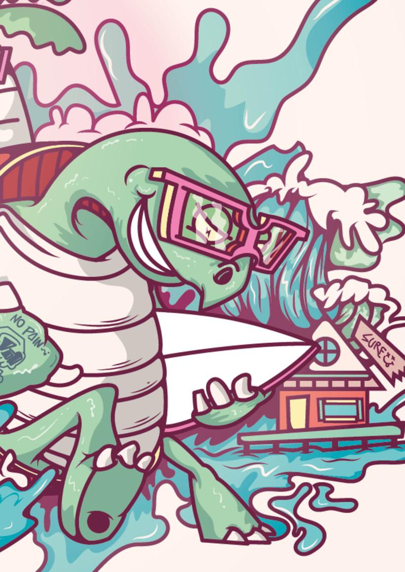 Mi Proyecto del curso: Ilustración para no ilustradores : Bocas Town 5