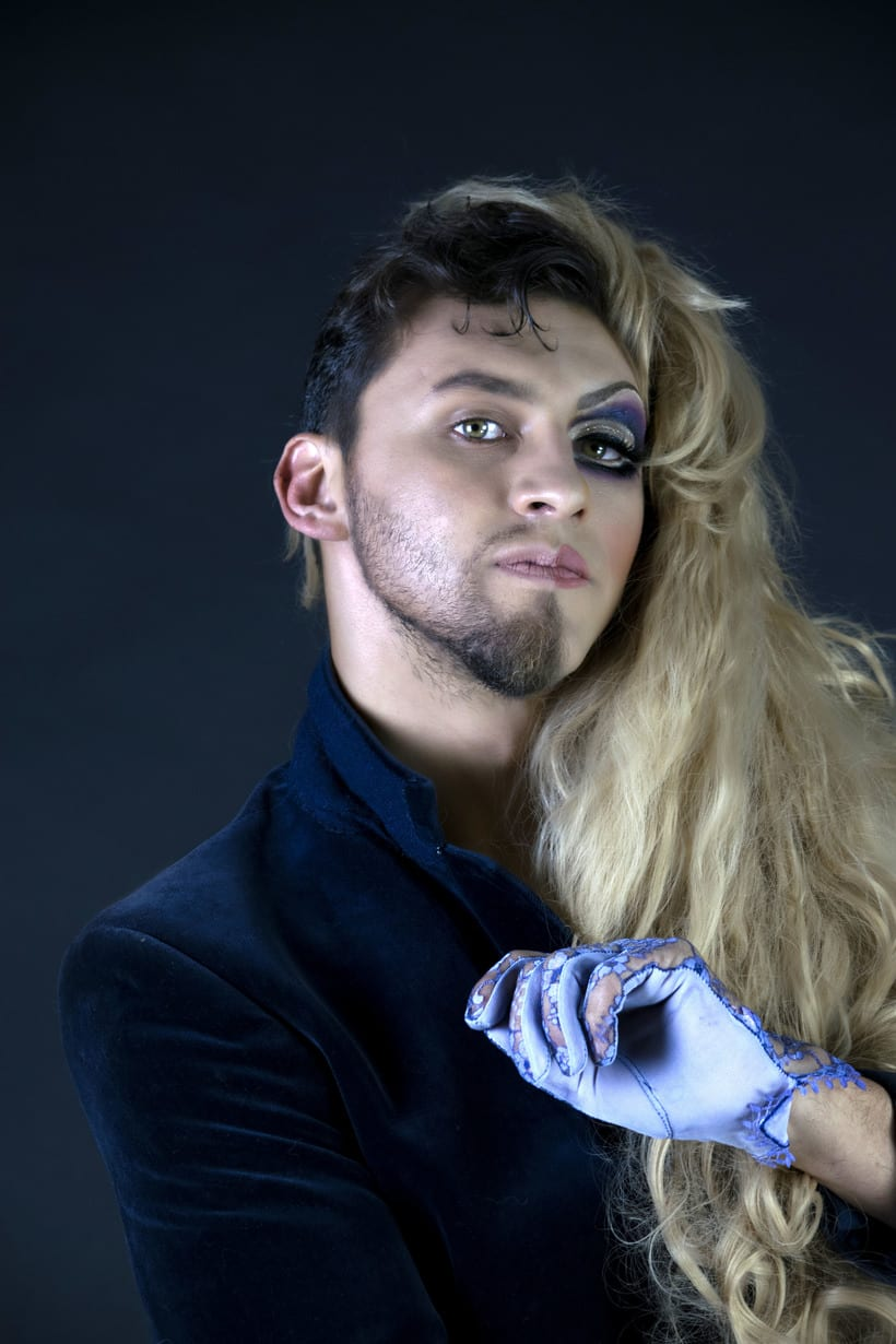 Mi Proyecto del curso: Fotografía de moda y retoque digital, Makeup. Fotografía: Martín Serafín; Modelo: Uriel Ochoa; MakeUp: Azucena Galicia; Arte: Azucena Galicia, Martín Serafìn 1