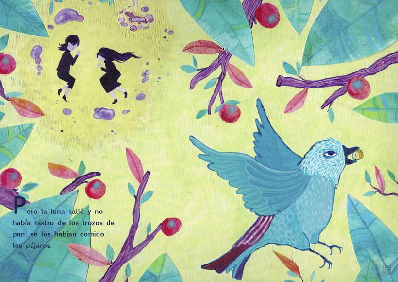 Ilustración editorial infantil : Hansel & Gretel -1