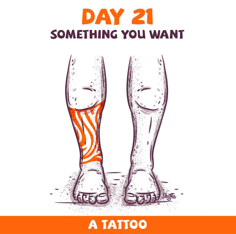 El reto ilustrado de 30 días de Shiffa 13