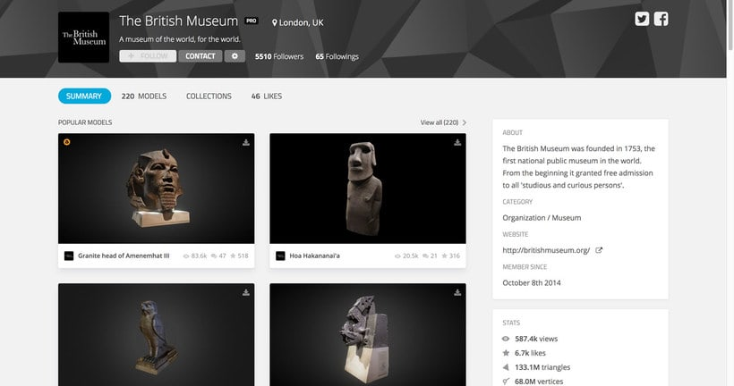 Más de 200 obras de arte del British Museum en 3D  5