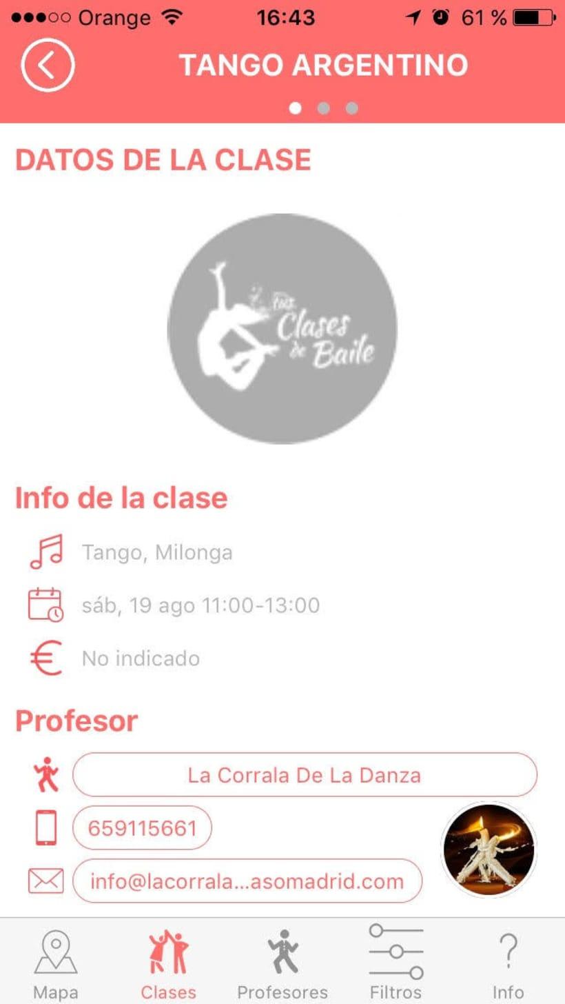 "Diseño de App ""Tus Clases de Baile"" 24"
