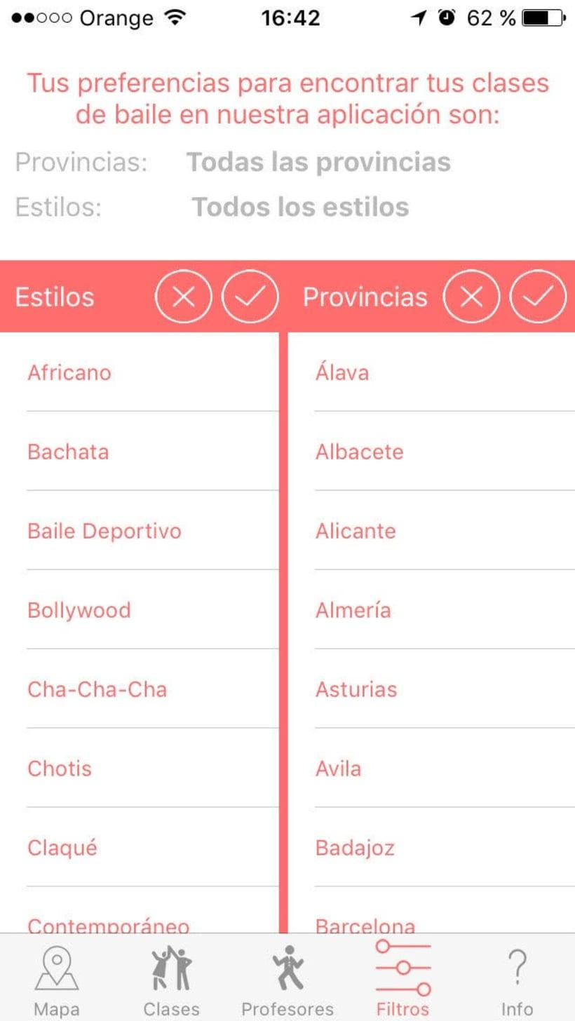 "Diseño de App ""Tus Clases de Baile"" 31"