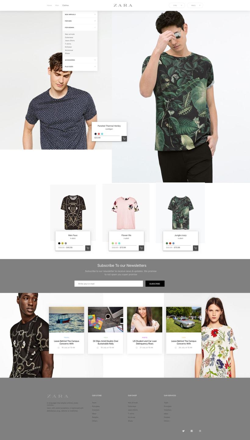 Zara   Redesign Concept -1