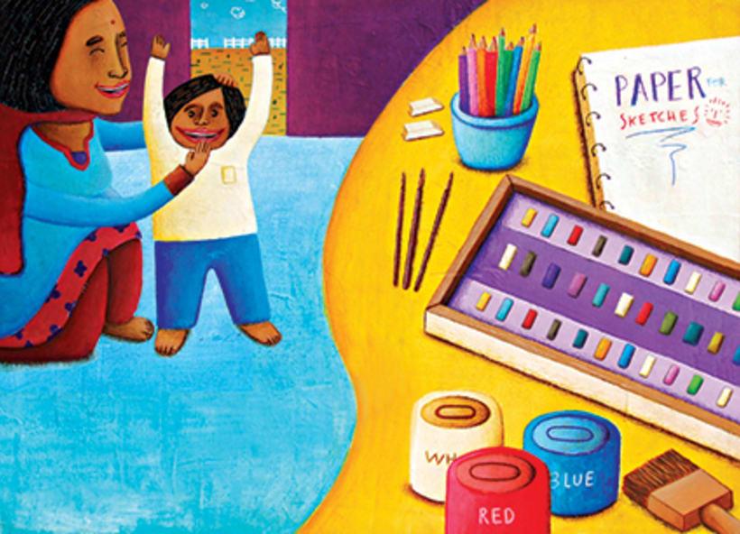 """""""Curious Sameer"""" serie ilustrada del libros para niños (edad: 3/6 años) 8"""