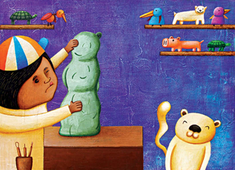 """""""Curious Sameer"""" serie ilustrada del libros para niños (edad: 3/6 años) 12"""