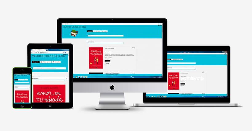 Diseño Web Responsive de una APP de Catálogo de Libros. -1