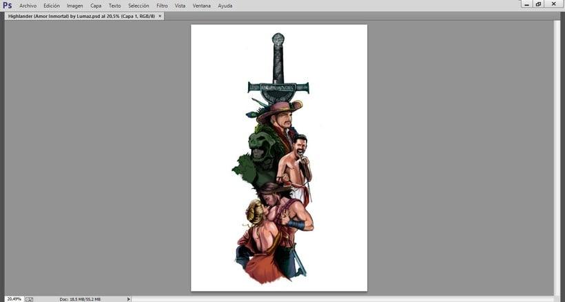 HIGHLANDER: EL INMORTAL... del dibujo a lápiz a la ilustración digital 3