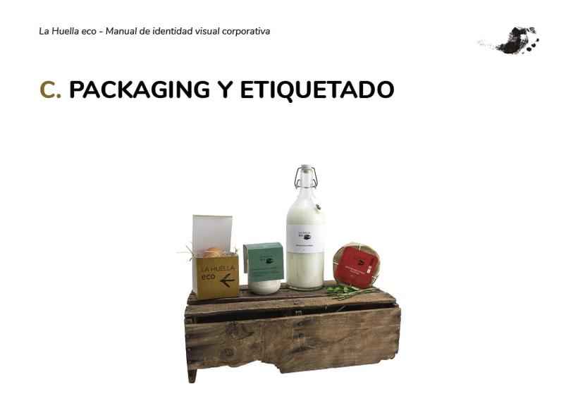 Identidad visual de granja ecológica La Huella eco 2