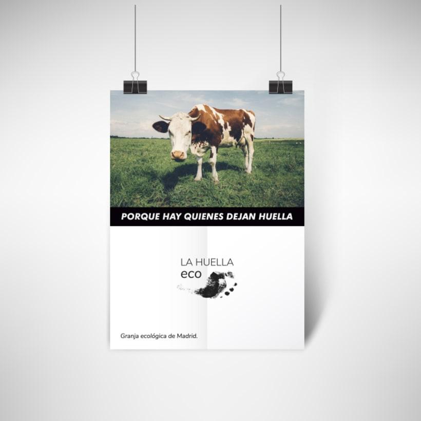 Identidad visual de granja ecológica La Huella eco 9