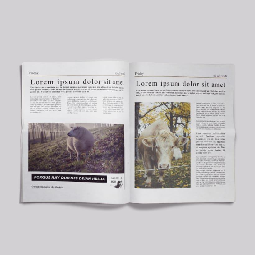 Identidad visual de granja ecológica La Huella eco 11