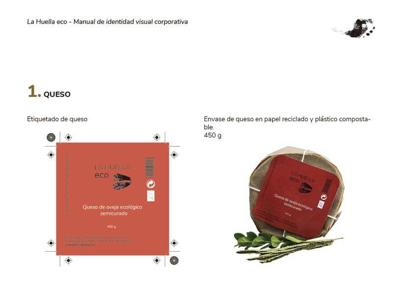 Identidad visual de granja ecológica La Huella eco 3