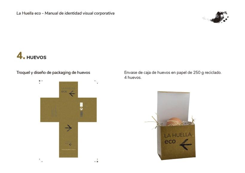 Identidad visual de granja ecológica La Huella eco 6