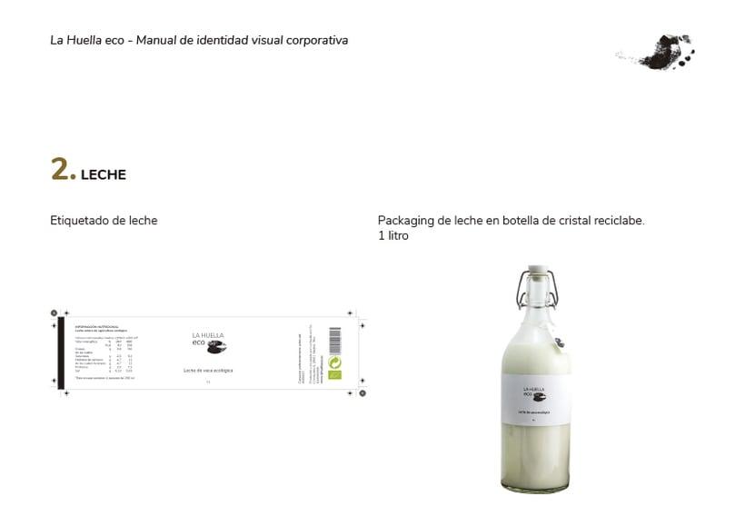 Identidad visual de granja ecológica La Huella eco 4