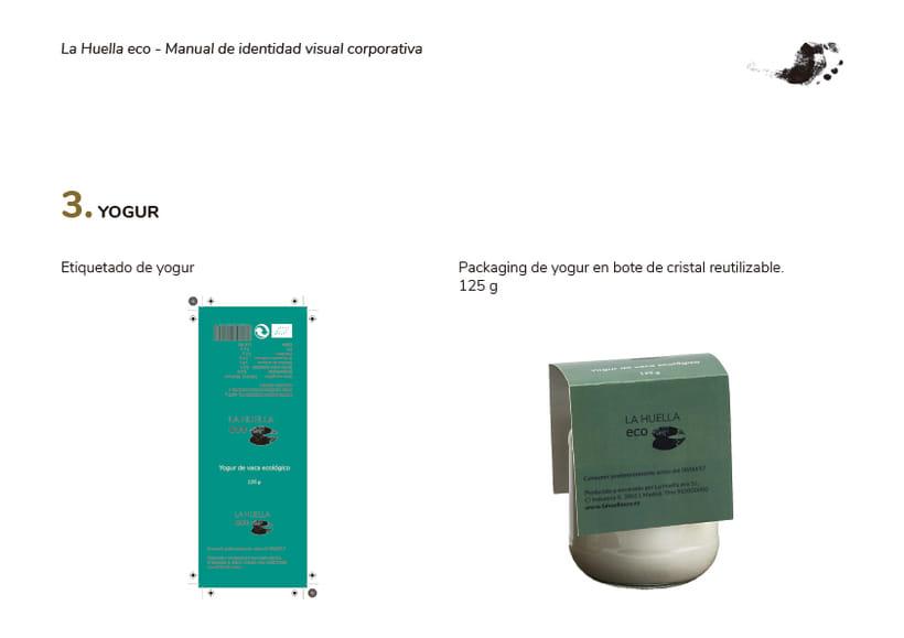 Identidad visual de granja ecológica La Huella eco 5