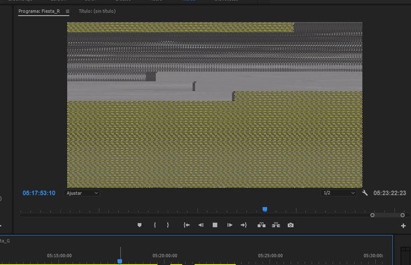 Premiere falla de pantalla roja en la previsualización 2