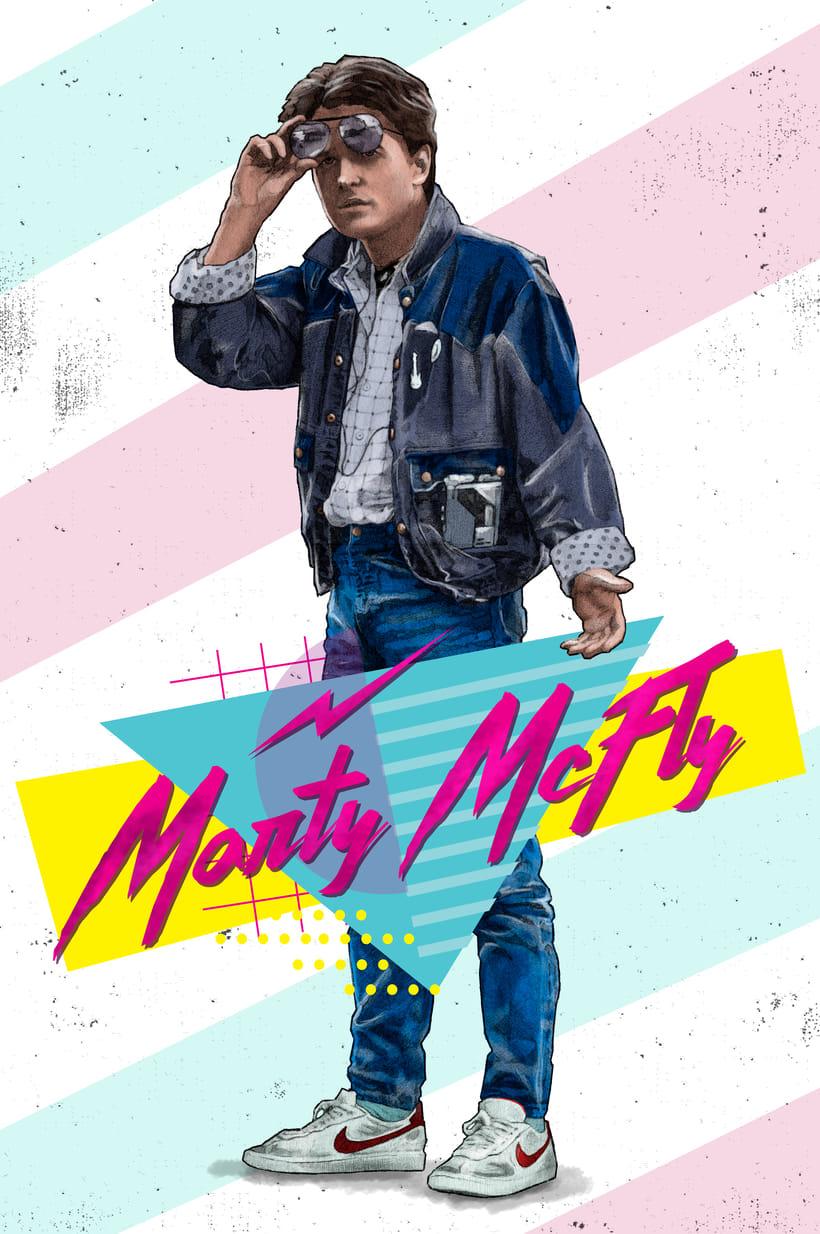 Del dibujo a lápiz a la ilustración digital - Marty McFly -1