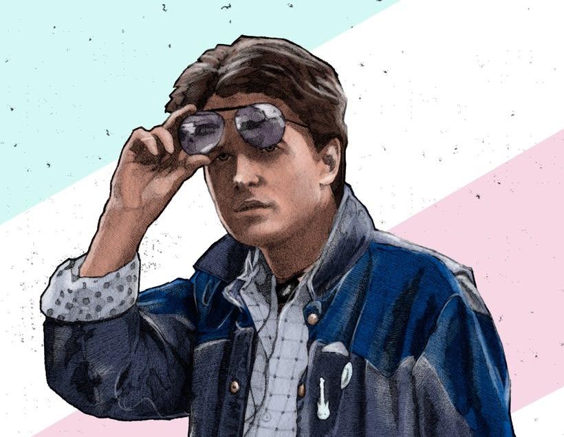 Del dibujo a lápiz a la ilustración digital - Marty McFly 0