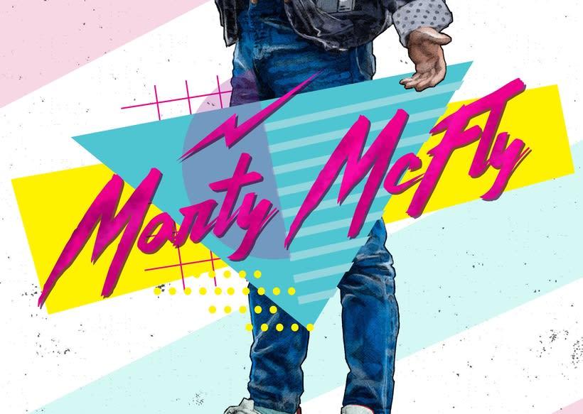 Del dibujo a lápiz a la ilustración digital - Marty McFly 1