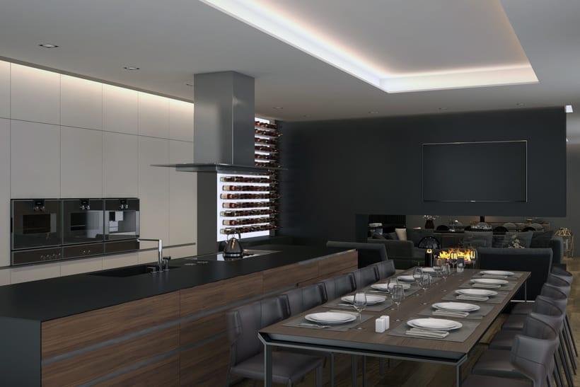 Salon y cocina (Pozuelo - Madrid) 3