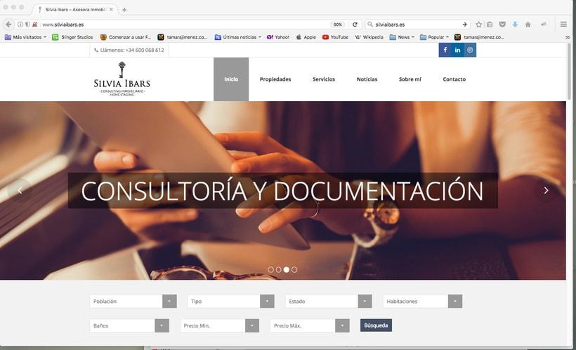 Imagen corporativa, tarjetas y web Silvia Ibars Consulting Inmobiliario 2