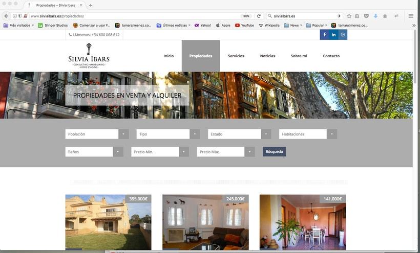Imagen corporativa, tarjetas y web Silvia Ibars Consulting Inmobiliario 3