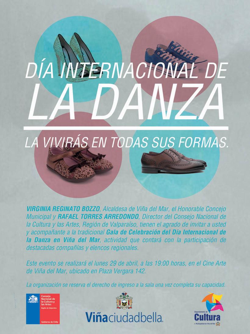 Día de la danza, diseño desarrollado para la Ilustre Municipalidad de Viña del Mar. -1