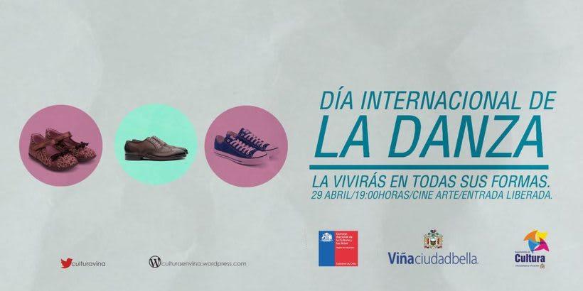 Día de la danza, diseño desarrollado para la Ilustre Municipalidad de Viña del Mar. 1