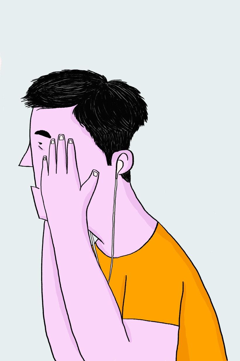 Hombre, ilustración digital -1