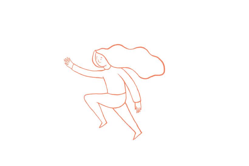 Rosa, ilustración digital -1