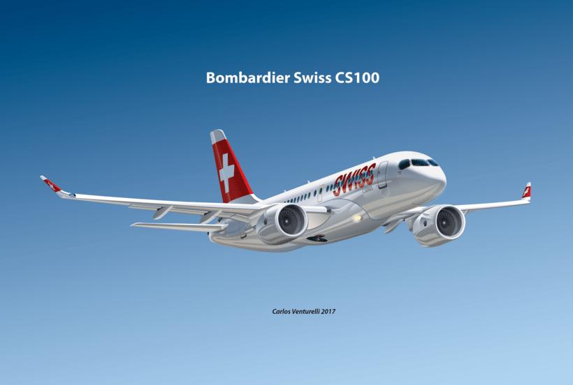 Aviones. Ilustración vectorial. 0