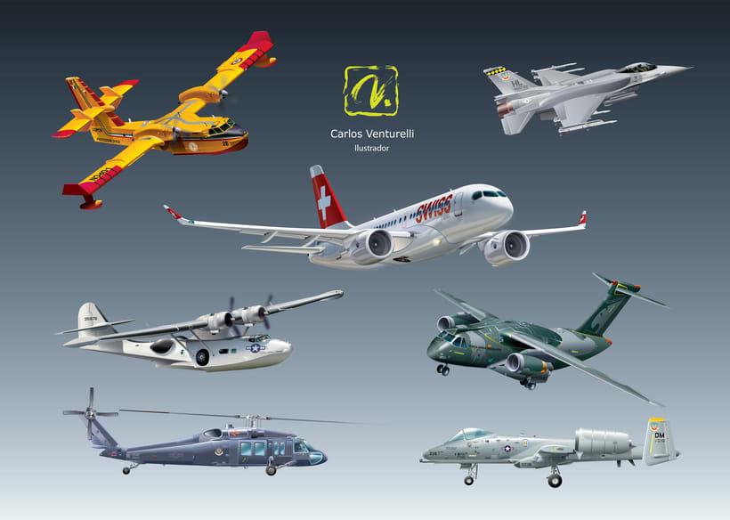 Aviones. Ilustración vectorial. 1