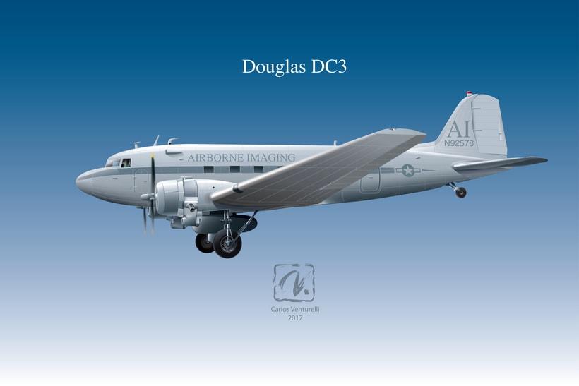 Aviones. Ilustración vectorial. 2