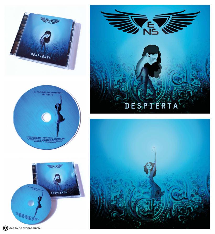 """Diseño imagen álbum """"Despierta"""" del grupo """"El Número de Shanon"""" 1"""