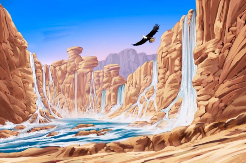Pintura mural digital para parque acuático en Palma de Mallorca 1