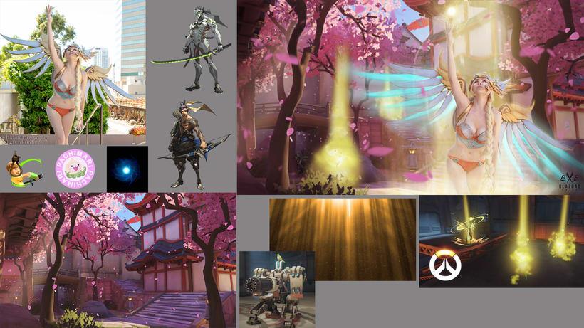 Os dejo aquí varios de mis proyectos de matte paintings  :3 4