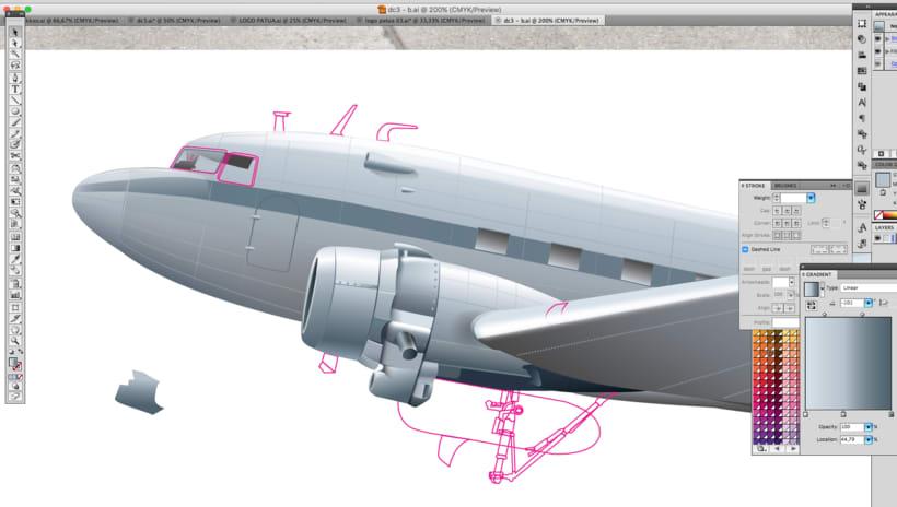 Aviones. Ilustración vectorial. 5