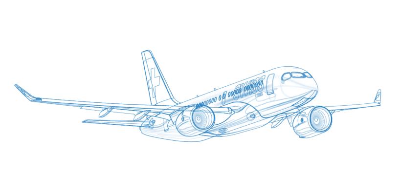 Aviones. Ilustración vectorial. 6