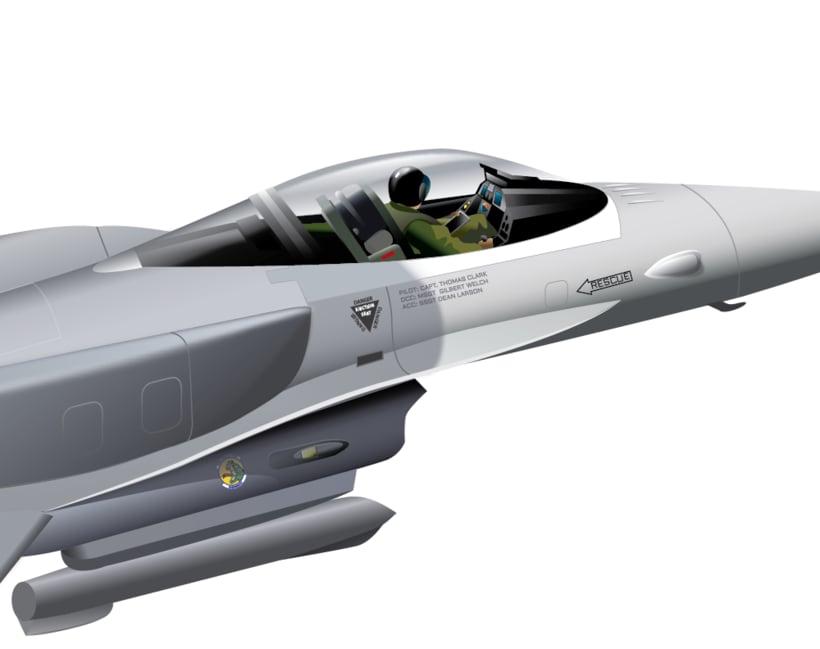 Aviones. Ilustración vectorial. 8