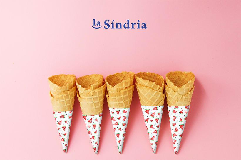Marca de heladería + pattern sandías 2