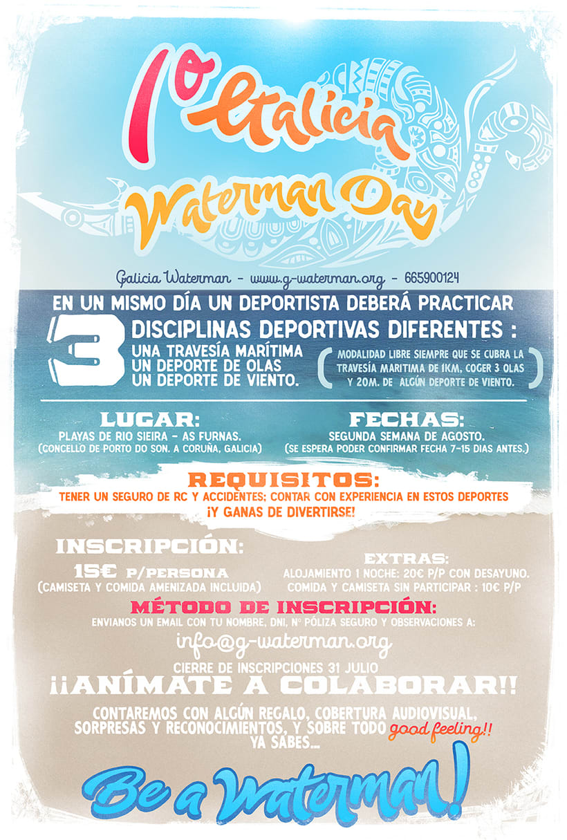 Cartel - 1er Galicia Waterman Day 0