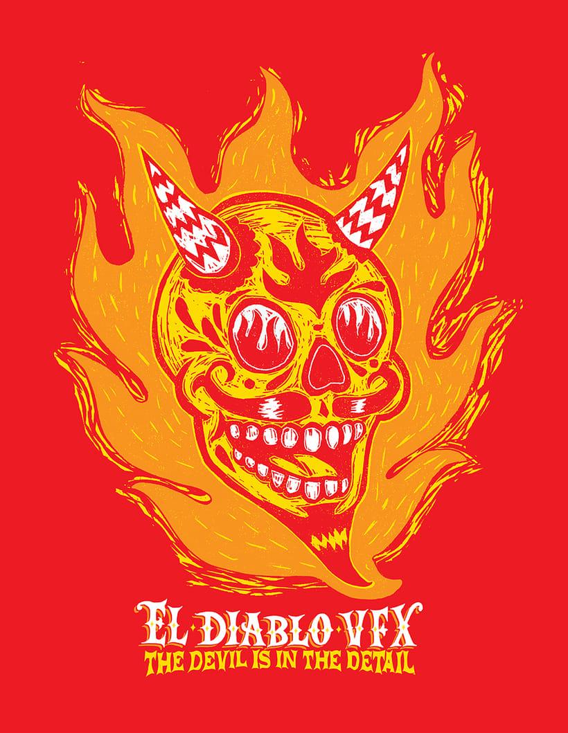 Diseño de imagen para productora de televisión canadiense El Diablo VFX 0