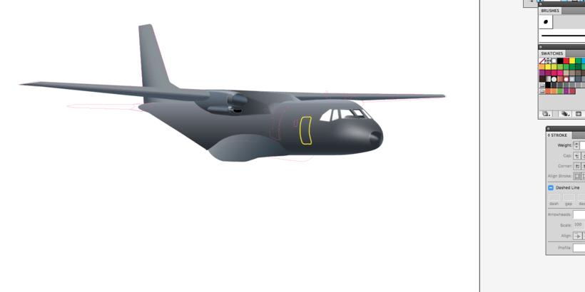 CASA CN235 - Ilustración vectorial 0