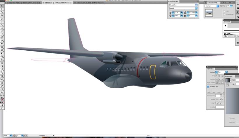 CASA CN235 - Ilustración vectorial 1