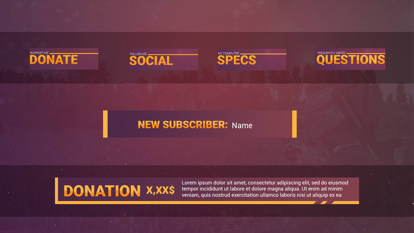Twitch Graphic Pack 1
