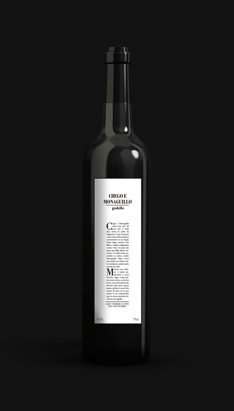 PACKAGING. Alternativa para la bodega Crego e Monaguillo 1