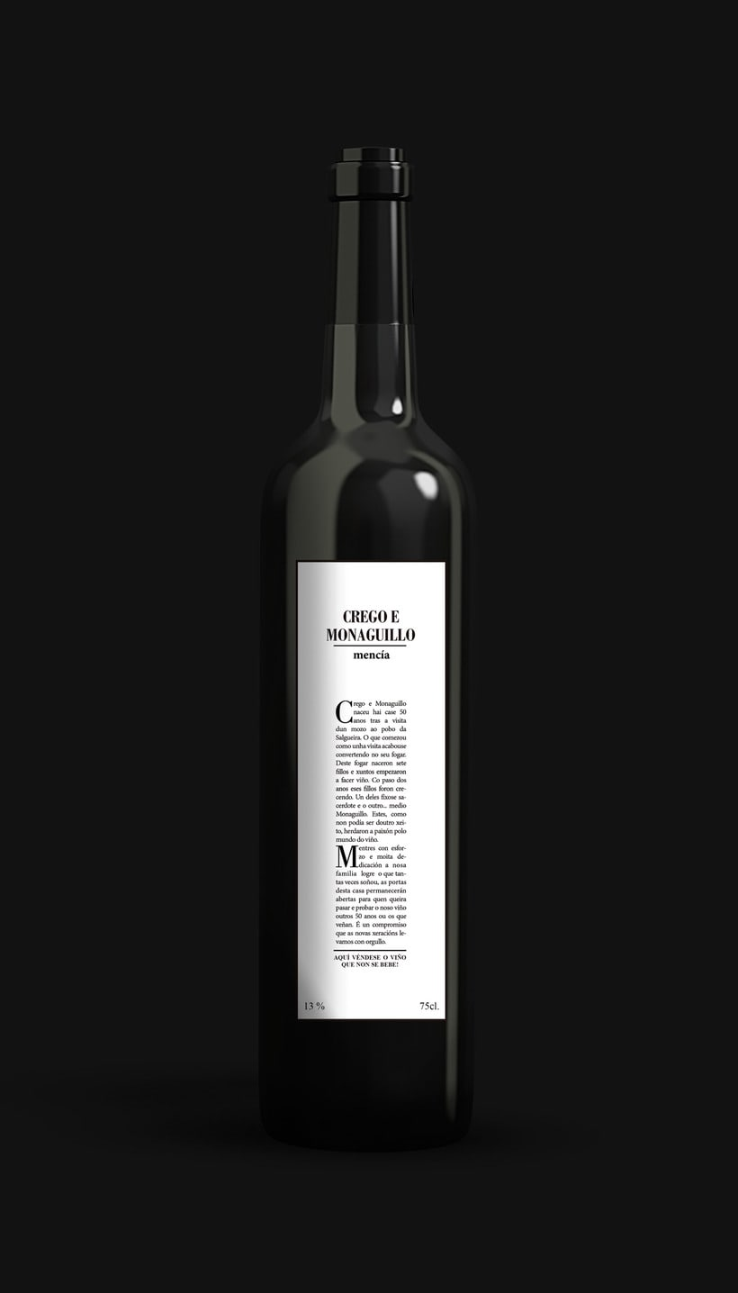 PACKAGING. Alternativa para la bodega Crego e Monaguillo 2