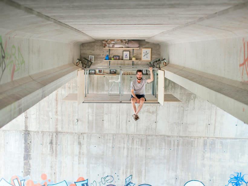 Un estudio-refugio debajo de un puente en Valencia 3